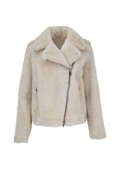 Brunello Cucinelli - Ice Cashmere Fur Moto Jacket