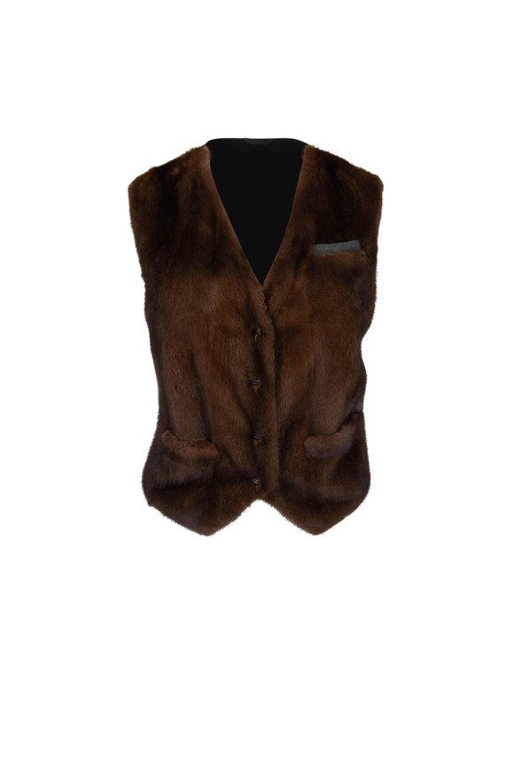 Mink Front Monili Pocket Vest