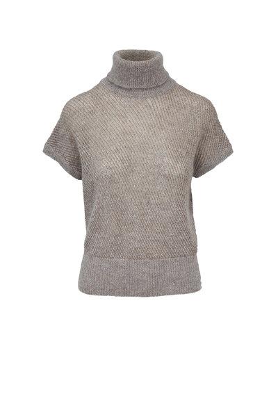 Brunello Cucinelli - Pebble Mohair & Lurex Open Weave Sweater