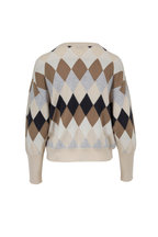 Brunello Cucinelli - Oat Cashmere Argyle Sweater