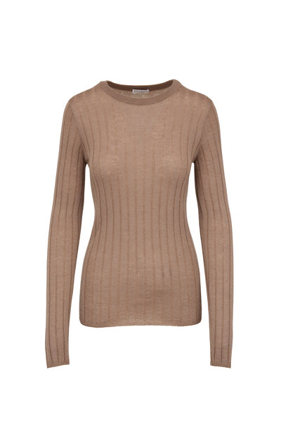 Brunello Cucinelli - Caribou Wide Ribbed Fitted Sweater