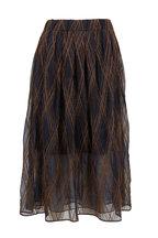 Brunello Cucinelli - Volcano Monili & Mohair Argyle Skirt
