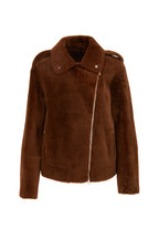 Brunello Cucinelli - Tobacco Shearling Moto Jacket