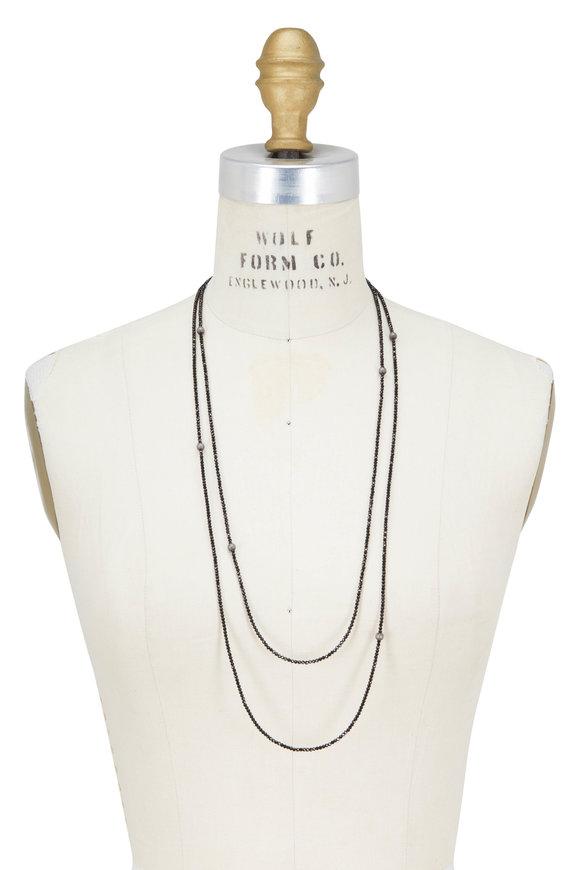 Brunello Cucinelli Black Diamante Convertible Wrap Necklace