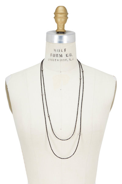 Brunello Cucinelli - Black Diamante Convertible Wrap Necklace