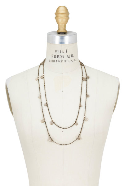 Brunello Cucinelli - Gold Pirite Dangle Wrap Convertible Necklace