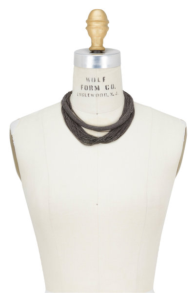 Brunello Cucinelli - Silver Monili Double Layer Choker