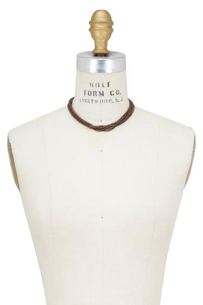 Brunello Cucinelli - Dark Brown Monili Multi Layer Necklace
