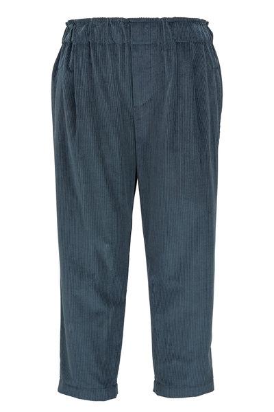 Brunello Cucinelli - Jasper Cotton & Cashmere Corduroy Pull-On Pant