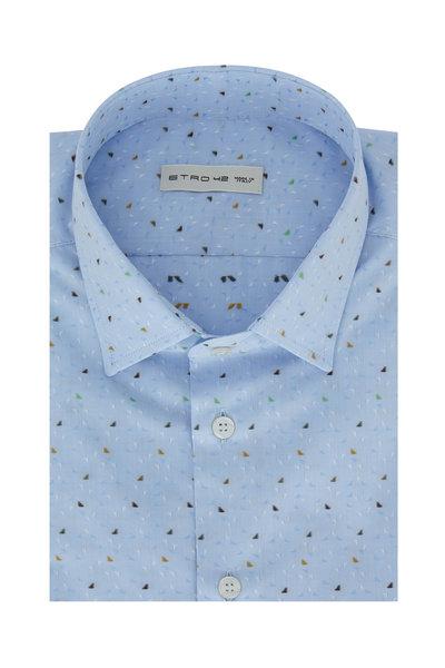 Etro - Light Blue Printed Sport Shirt