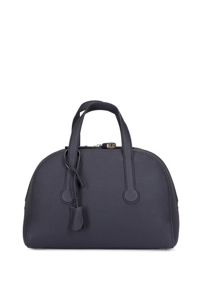 The Row - Sporty Bowler 12 Black Grained Leather Bag