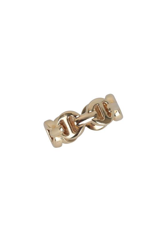 Hoorsenbuhs 18K Yellow Gold Heritage Classic Tri Link Ring