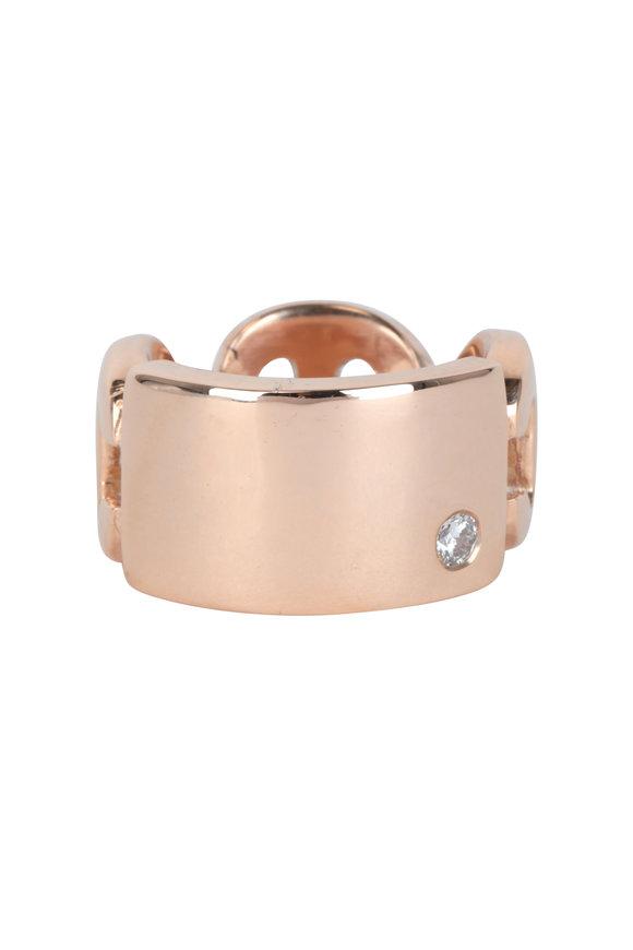Hoorsenbuhs 18K Rose Gold Plate Diamond Ring