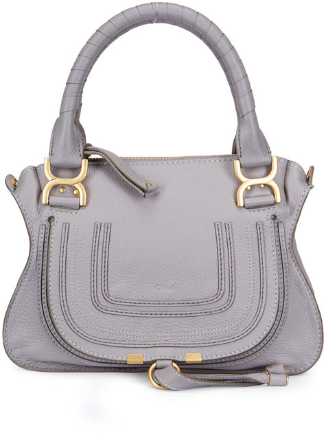 Chloé Marcie Cashmere Gray Leather Small Bag