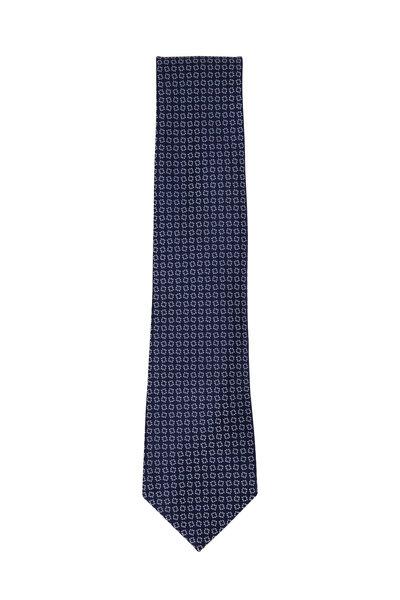 Charvet - Navy Blue Square Silk Necktie