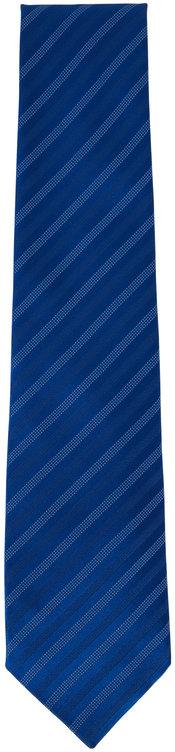 Charvet Royal Blue Striped Silk Necktie