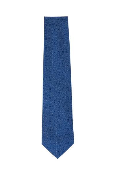 Charvet - Royal Blue Geometric Silk Necktie