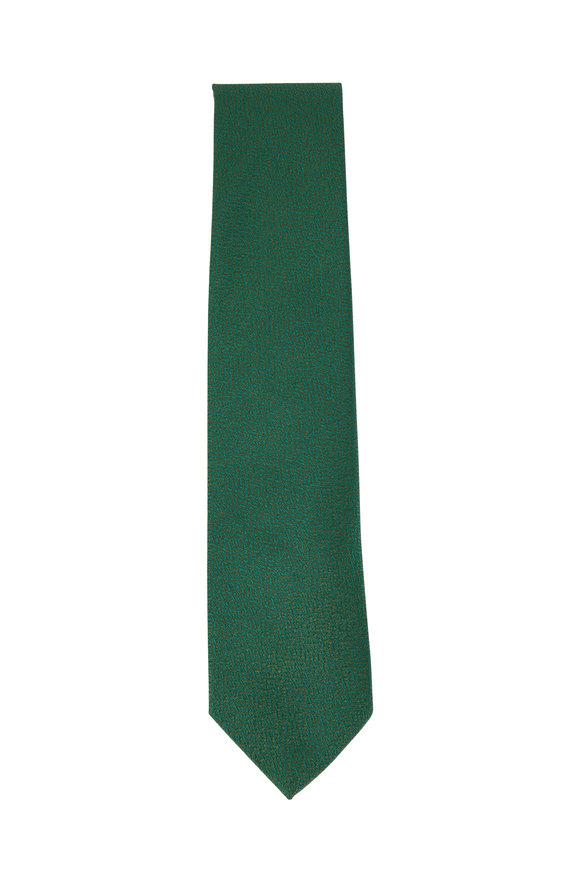 Charvet Green Textured Silk Necktie