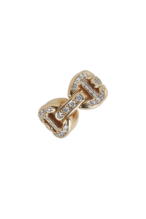 Hoorsenbuhs 18K Yellow Gold Quad Antiquated Link Ring