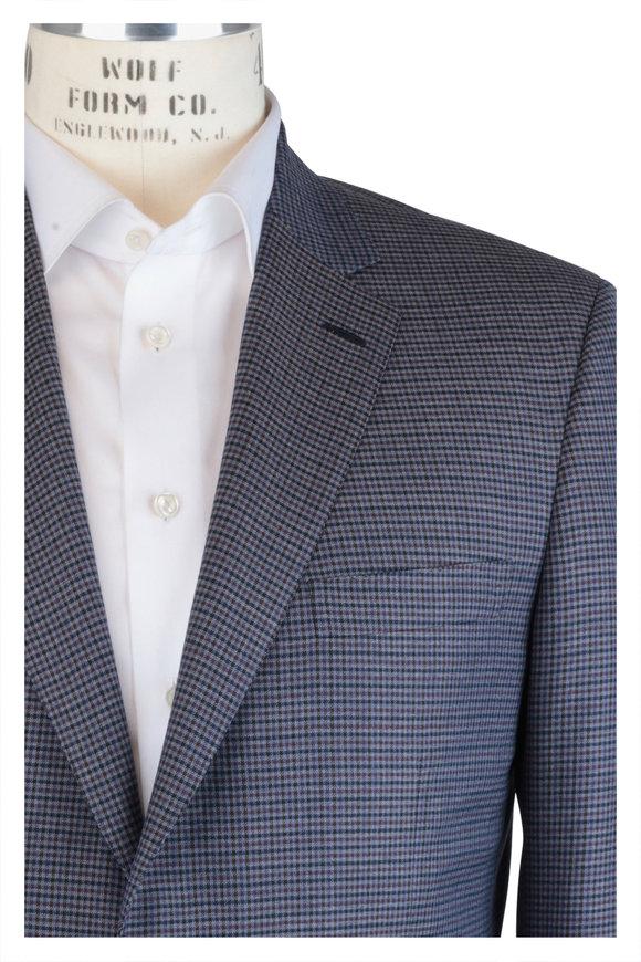 Brioni Blue & Sapphire Wool Neat Sportcoat