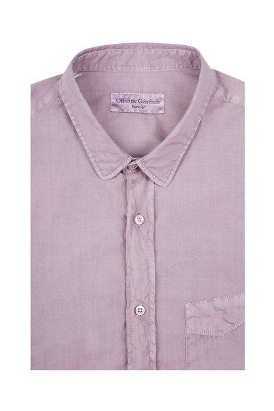 Officine Generale - Lipp Stitch Faded Lilac Sport Shirt