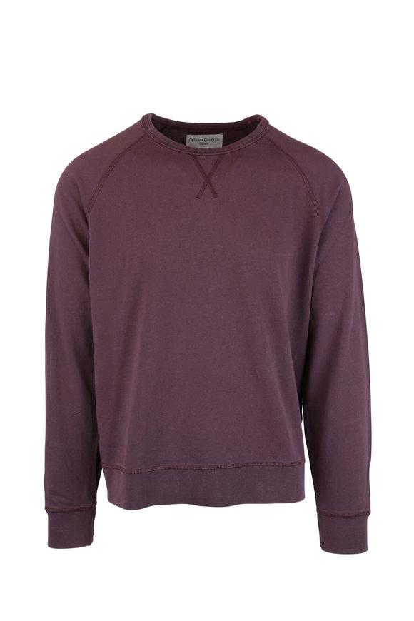 Officine Generale Clement Mauve Cotton Sweater