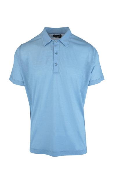 Kiton - Light Blue Cotton Polo