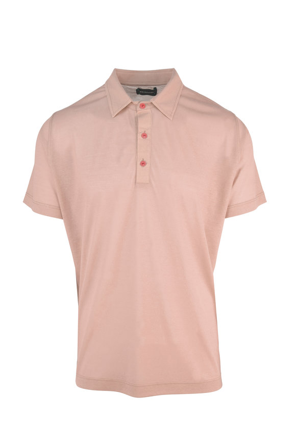 Kiton Light Pink Cotton Polo