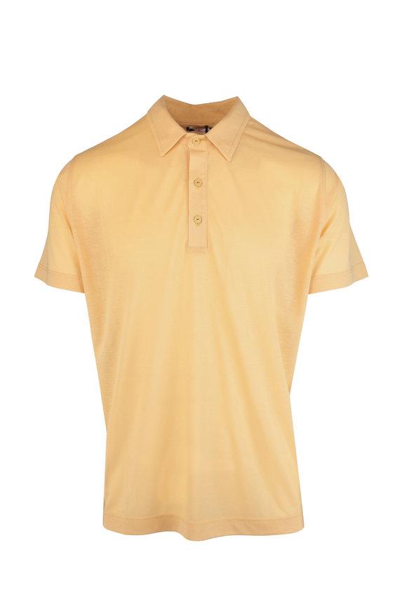 Kiton Yellow Cotton Polo