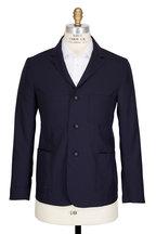 Officine Generale - Aris Navy Fresco Wool Jacket