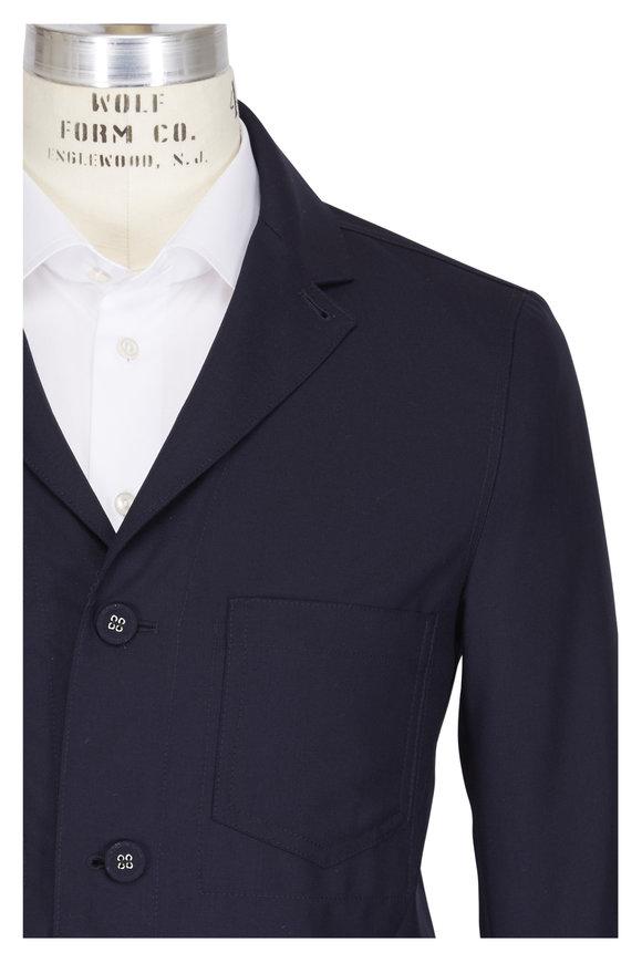 Officine Generale Aris Navy Fresco Wool Jacket