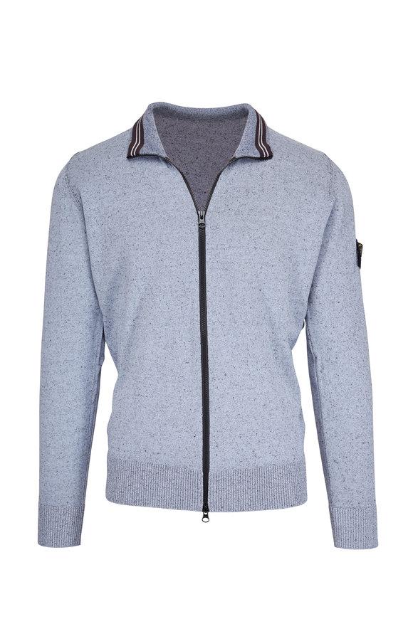Stone Island Gray Spray Full Zip Cardigan