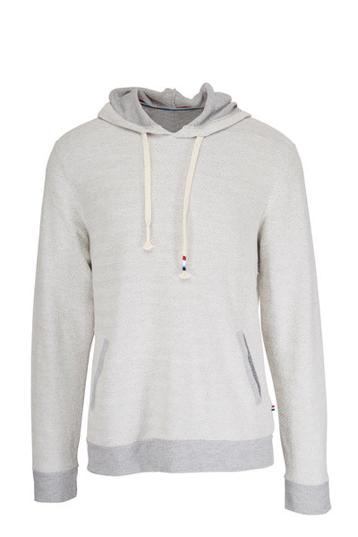 Sol Angeles - Gray Cotton Chevron Hoodie
