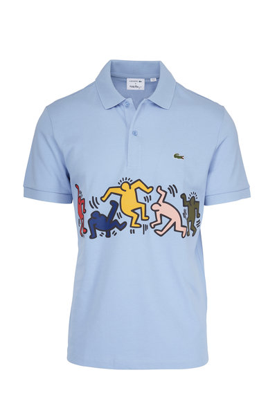 Lacoste - Keith Haring Blue Regular Fit Polo