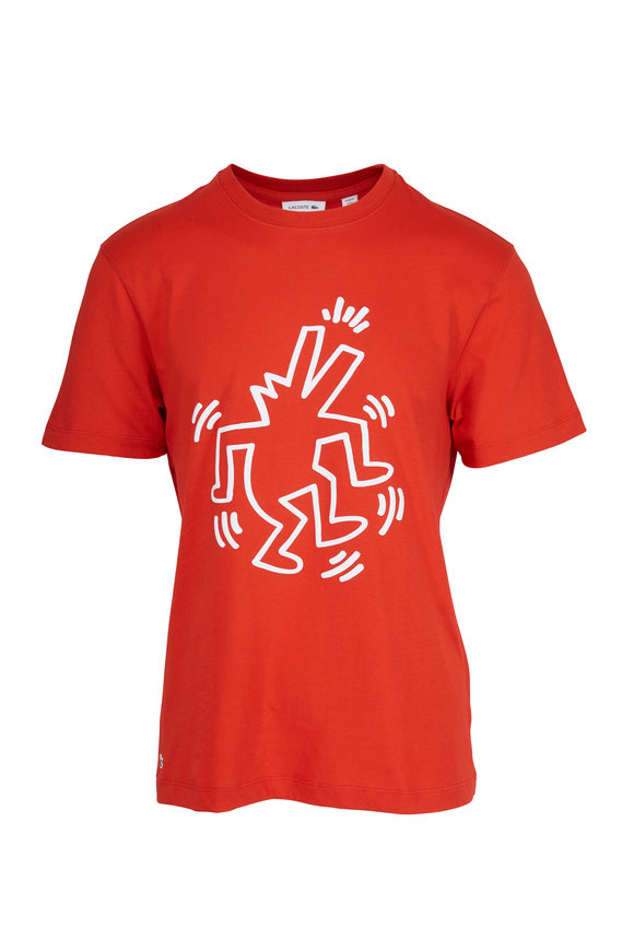 Lacoste Keith Haring Red Printed T-Shirt
