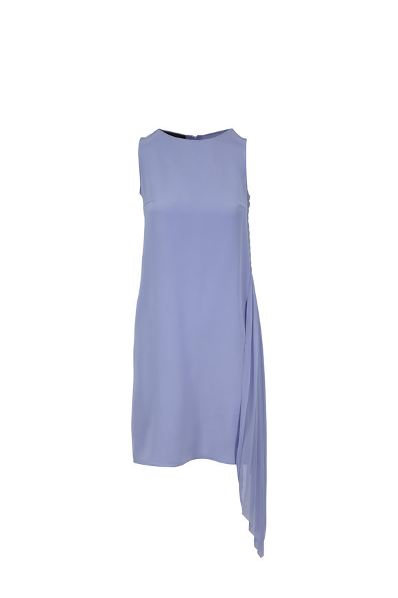 Akris Mauve Silk Side Plissé Dress