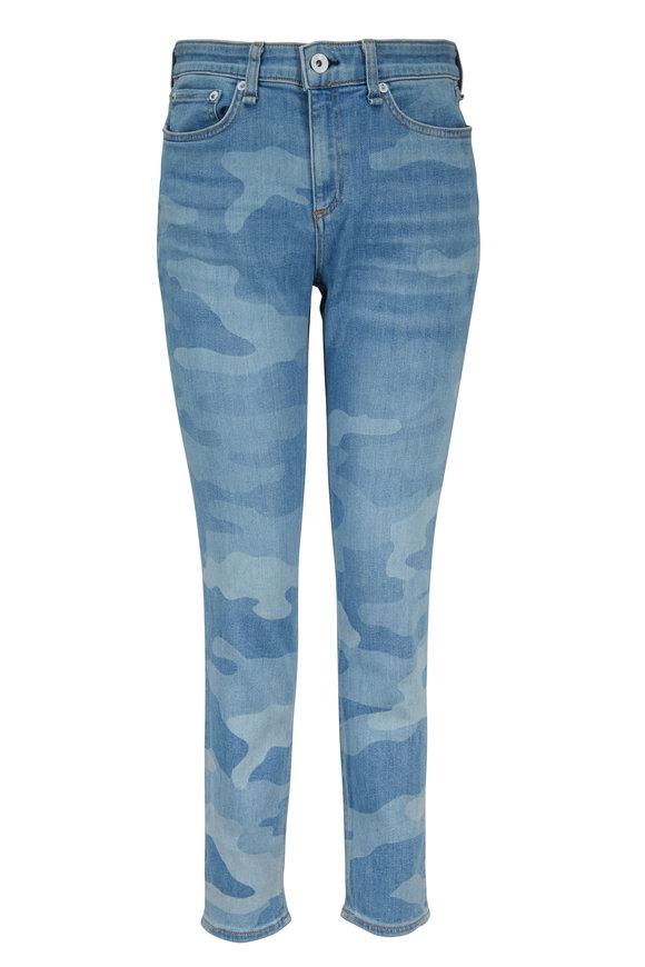 Rag & Bone Cate Faded Camo Mid-Rise Ankle Skinny Jean