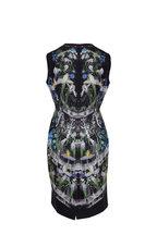 Alexander McQueen - Ophelia Black Floral Silk Poplin Dress