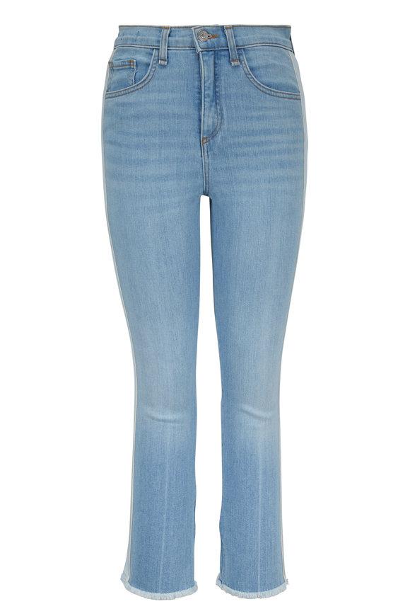 Veronica Beard Carly Air Tux Striped Kick Flare Jean