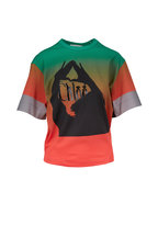 Chloé - Reggae Red & Green Tech Logo T-Shirt