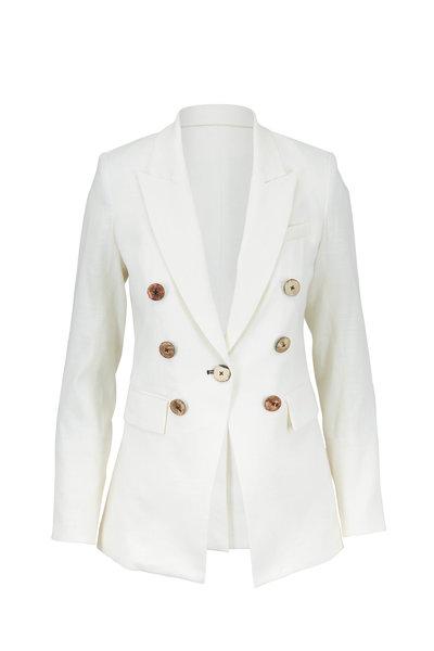 Veronica Beard - Gaya Off-White Linen Double-Breasted Jacket