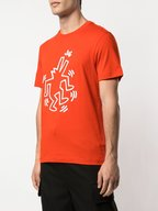 Lacoste - Keith Haring Red Printed T-Shirt