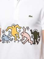 Lacoste - Keith Haring White Regular Fit Polo