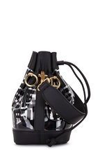 Fendi - Mon Tresor Black Leather & PU Mini Bucket Bag