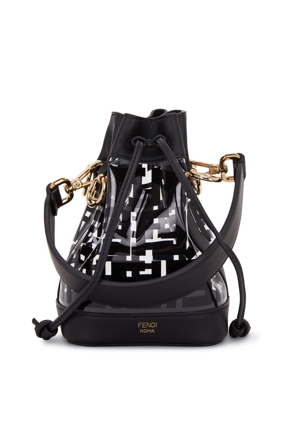 Fendi Mon Tresor Black Leather & PU Mini Bucket Bag