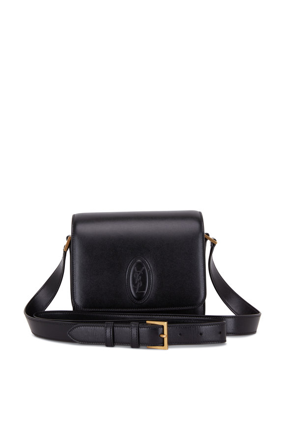 Saint Laurent Besace Le 61 Black Leather Small Saddle Bag