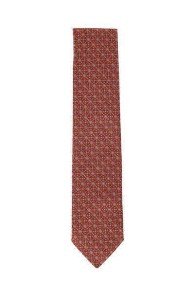 Eton - Orange Medallion Silk Necktie