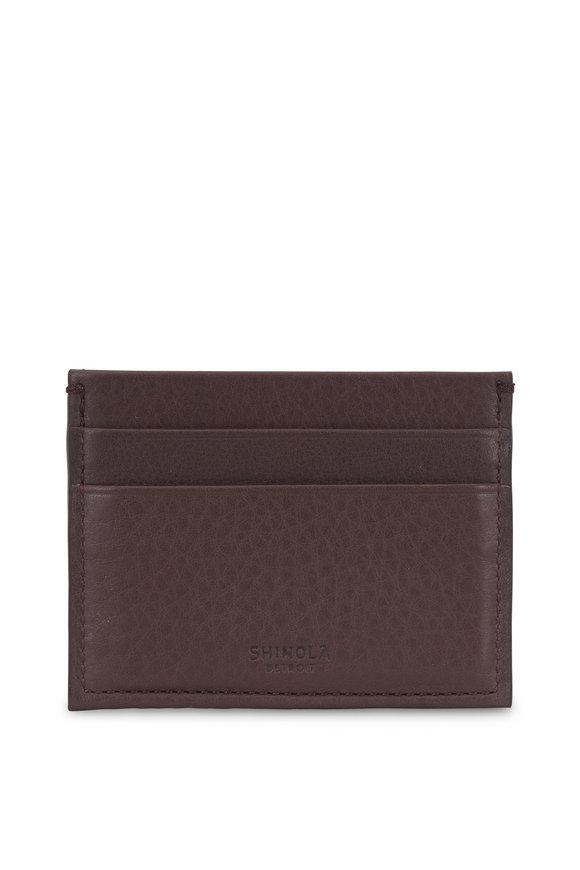 Shinola Chocolate Leather Card Case