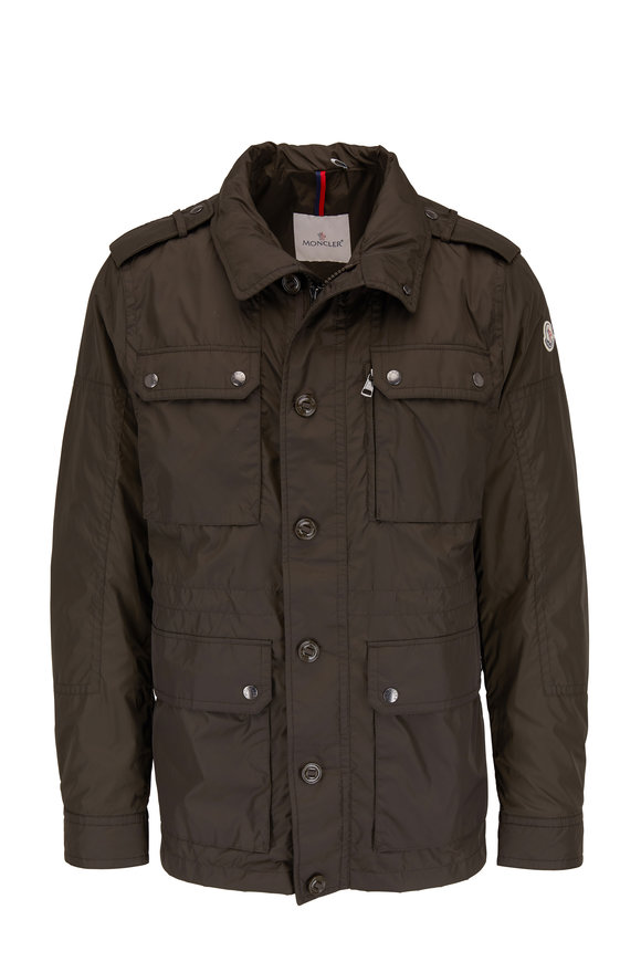 Moncler Olive Nylon Field Jacket