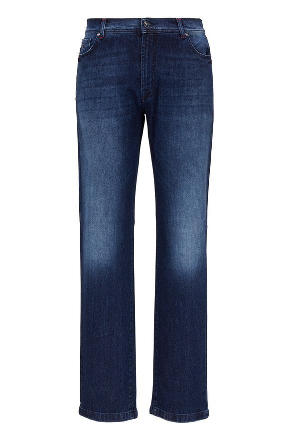 Marco Pescarolo Nerano Dark Wash Five Pocket Jean